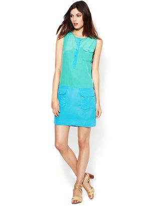 Rachel Zoe Jonah Silk Colorblock Shift Dress