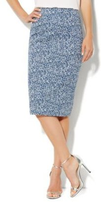 New York & Co. 7th Avenue Suiting Collection Pencil Skirt - Marbled Print