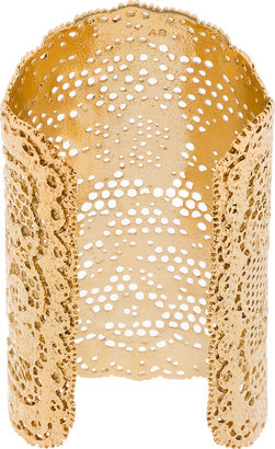 Aurelie Bidermann Gold Vintage Lace Cuff