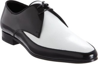 Saint Laurent Perforated Two-Tone Derby