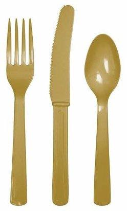 Spritz Gold Disposable Flatware Set