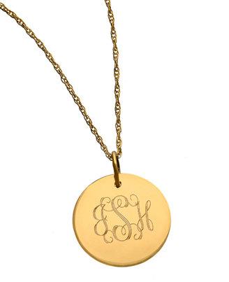West Avenue Jewelry Monogram Disk Necklace