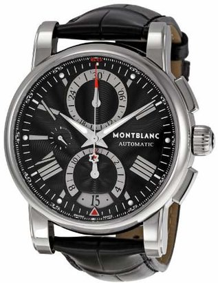 Montblanc Men's 'Star' Automatic Stainless Steel and Leather Dress Watch