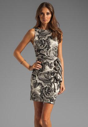 Alice + Olivia Lorena Open Back Sculpted Dress