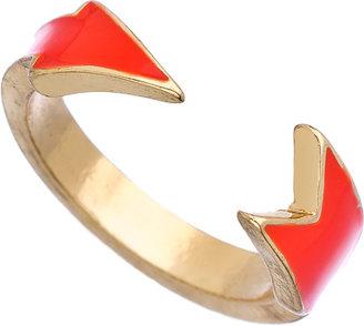 Blu Bijoux Neon Orange Open Arrow Ring