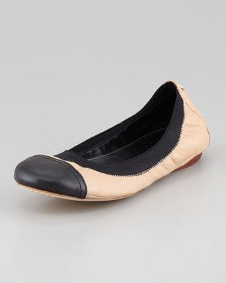 Tory Burch Carrie Cap-Toe Ballerina Flat