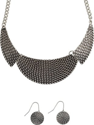 Maze Necklace And Earring Set