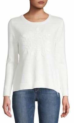 Karen Scott Petite Embroidered Snowflake Sweater