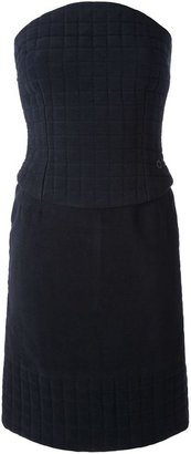 Chanel quilted top and skirt ensemble