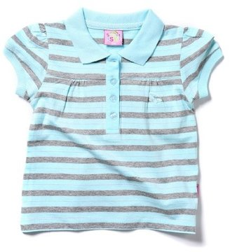 Sweet & Soft Sweet and Soft Classic Short Sleeve Baby Rouched Butterfly Polo