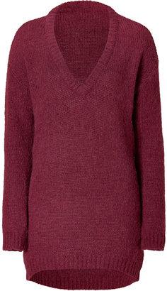 American Vintage Grape Wool-Alpaca Pullover