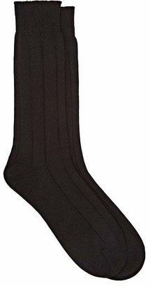 Barneys New York Men's Rib-Knit Mid-Calf Socks $35 thestylecure.com