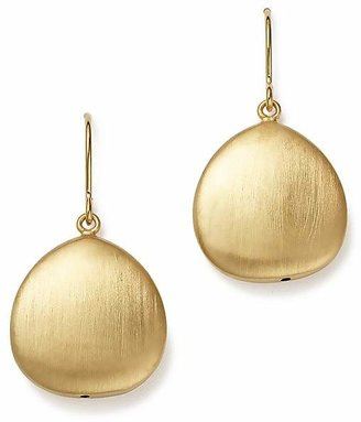Bloomingdale's 14K Yellow Gold Satin Finish Drop Earrings - 100% Exclusive