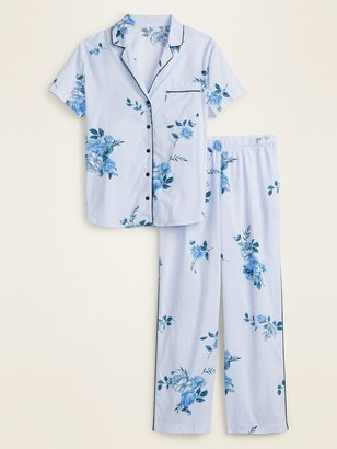 Old Navy Striped Floral Print Pajama Set for Women