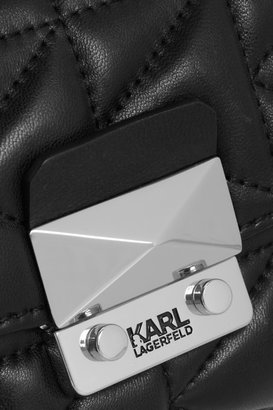 Karl Lagerfeld Kuilted leather bucket bag