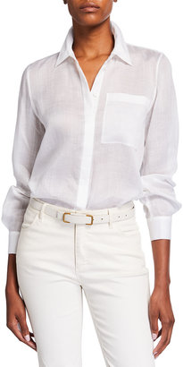 Lafayette 148 New York Ruxton Gemma Cloth Blouse
