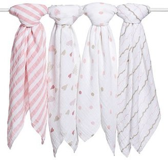 Aden + Anais Set Of 4 Classic Swaddling Cloths $49.95 thestylecure.com