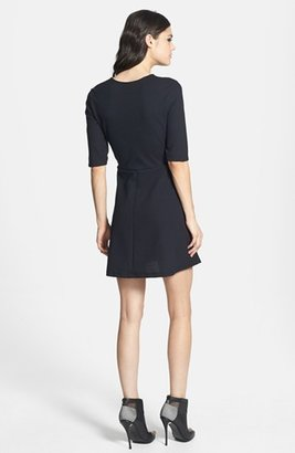 Topshop Seamed Textured Skater Dress