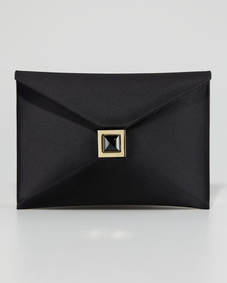 Kara Ross Prunella Satin Clutch Bag