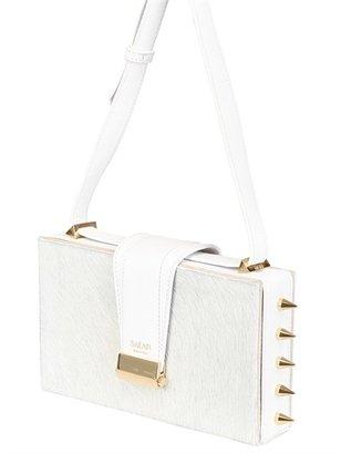 Lou Spikes Studded Ponyskin Box Bag