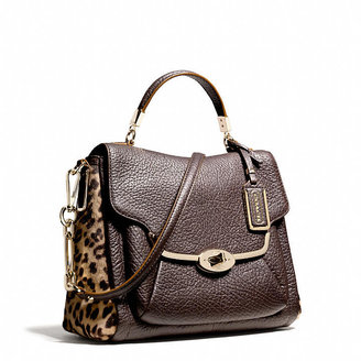Coach Madison Small Sadie Flap Satchel In Printed Haircalf
