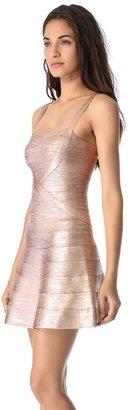 Herve Leger Faith Mini A Line Dress