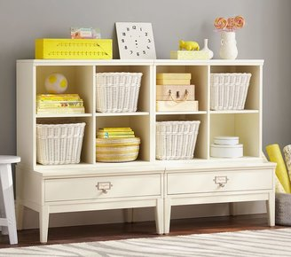 Pottery Barn Kids 2 Library Base & 2 Cubby System