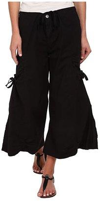 XCVI Cargo Gaucho Crop (Black) Women's Capri