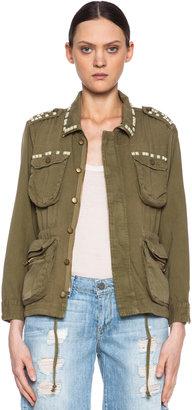 Current/Elliott Lone Soldier Cotton Jacket in Spring Army