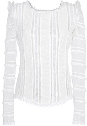 Isabel Marant White Quena Top
