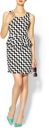 Juicy Couture Rhyme Los Angeles Chevron Peplum Dress