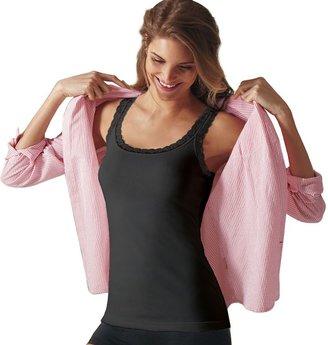 Maidenform shapewear fat-free dressing lace-trim tank 4366 - women's