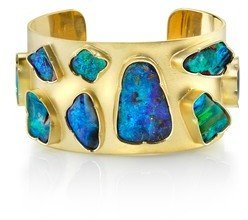 Irene Neuwirth Wide Boulder Opal Cuff - Yellow Gold