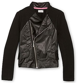 JCPenney Dreampop® by Cynthia Rowley Faux Leather Biker Jacket - Girls 7-16