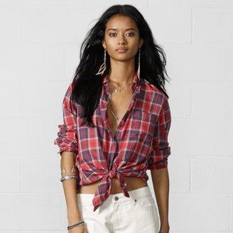 Denim & Supply Ralph Lauren Angus Plaid Boyfriend Shirt