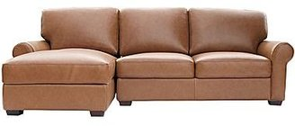 JCPenney Leather Possibilities Roll-Arm Sofa/Chaise Sectional