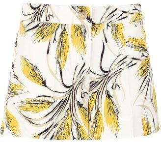 Tory Burch wheat print shorts