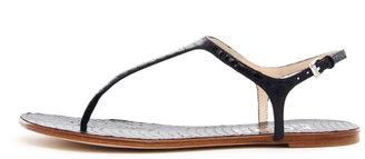 KORS Joni Snake-Print Thong Sandal