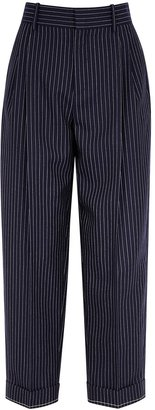 Chloé Pinstriped Navy Wool Trousers