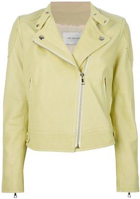 Yves Salomon short leather jacket
