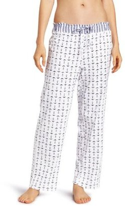 Nautica Sleepwear Women's Mini Anchor Print Knit Ankle Pant
