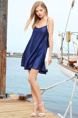 Glamorous In Slink Navy Blue Dress