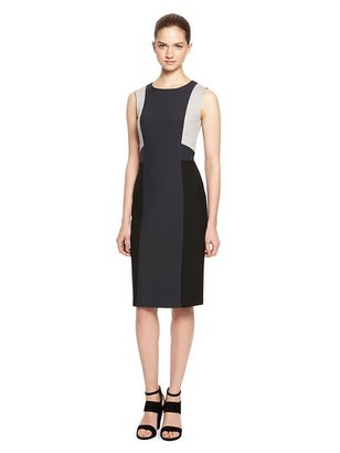 DKNY Color Block Sleeveless Sheath Dress
