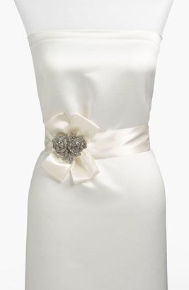 Nina Satin Crystal Flower Sash