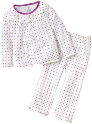 Carter's ruffle floral pajamas - toddler