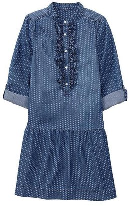 Gap Convertible dot denim dress
