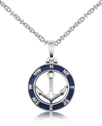 Forzieri Stainless Steel Anchor Pendant Necklace