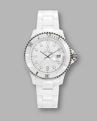 Toy Watch White Plasteramic Watch