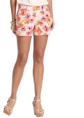 LOFT Petite Floral Dream Print Linen and Cotton Shorts