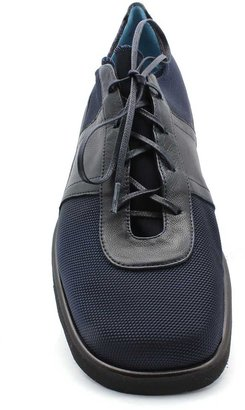 "Thierry Rabotin 7543"" Navy Microfiber and Leather Oxford"